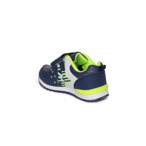Kittens Boys Navy Blue Synthetic Leather Sneakers