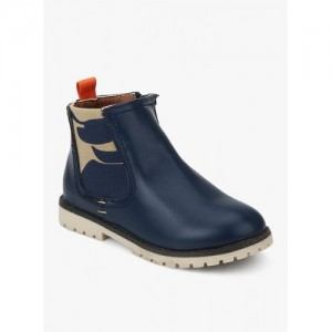 Kittens Mid Ankle Navy Blue Synthetic Boots