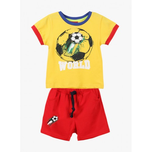 Lilliput Yellow & Red Cotton Combo Set