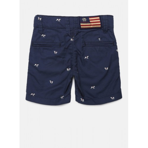 U.S. Polo Assn. Navy Blue Printed Shorts