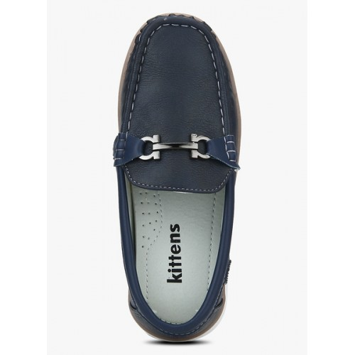Kittens Navy Blue Synthetic Slip-On Loafers