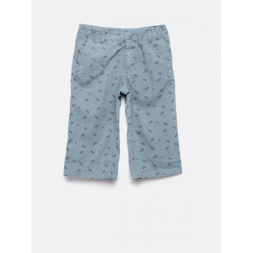 UFO Boys Grey Printed Regular Fit Regular Shorts