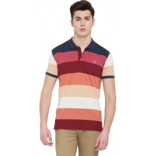 3c8e6a53cb5 Buy Duke Multicolor Striped Men Polo Neck T-Shirt online