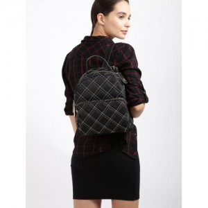 Tommy Hilfiger Black Nylon Quilted Backpack