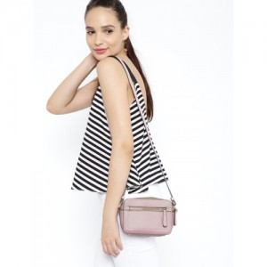 Accessorize Dusty Pink Polyurethane Solid Sling Bag