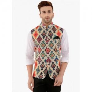 HANGUP Multicoloured Printed Nehru Jacket