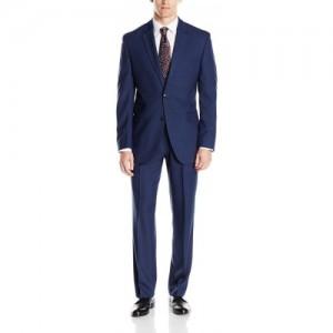 Michelangelo Blue Single Breasted Solid Men's Suit