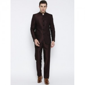 Raymond Burgundy Fit Dual-Toned Partywear Suit
