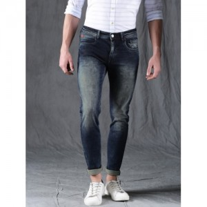 WROGN Men Navy Skinny Fit Mid-Rise Stretchable Jeans