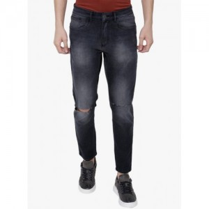 Highlander Dark Grey Washed Slim Fit Jeans