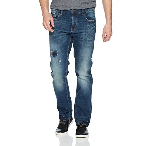 UNIONBAY Mens Stretch Straight Leg Denim Jean