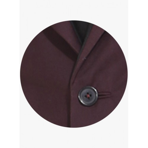 Mr Button Wine Solid Waistcoat
