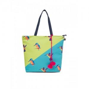 Lemon Trunk Blue & Green Canvas Printed Tote Bag