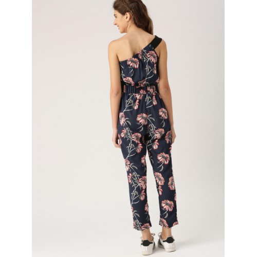 72831ac0a16 Buy DressBerry Navy Blue Polyester Printed Basic Jumpsuit online ...