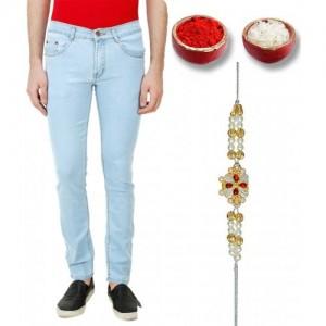 Rock Hudson Men's Blue Regular Fit Jeans