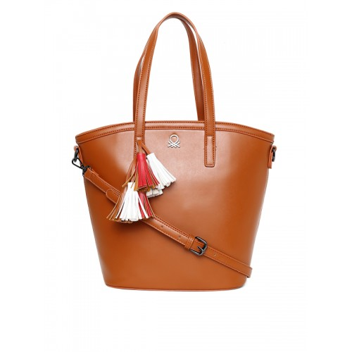 0914b31a16158 Buy United Colors of Benetton Tan Brown Solid Shoulder Bag online ...