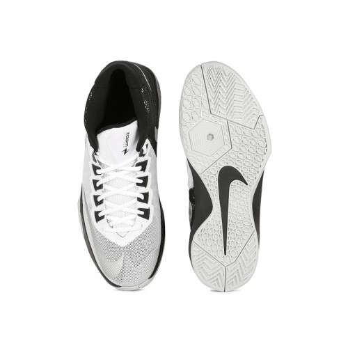 3e98d8ec5e7ad Buy Nike Men White   Black ZOOM DEVOSION Basketball Shoes online ...
