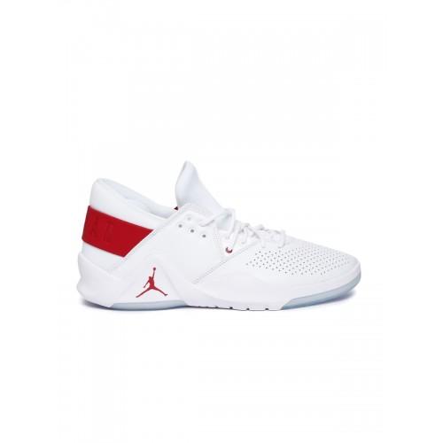 bc6f977e99582f ... Nike Men White Leather JORDAN FLIGHT FRESH Mid-Top Basketball Shoes ...