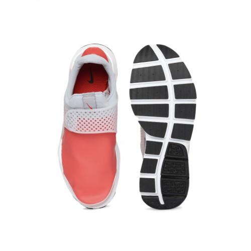 d9f9e8a9a16f3f Buy Nike Men Coral Pink   Grey SOCK DART SE Sneakers online ...