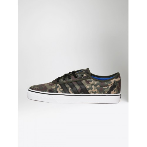 ADIDAS Originals Olive Green ADI EASE Camouflage Print Skate Shoes