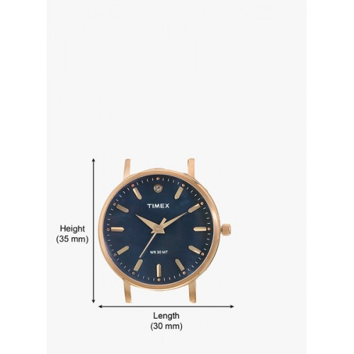 Timex Tw0tl9110 Rose Gold/Blue Analog Watch