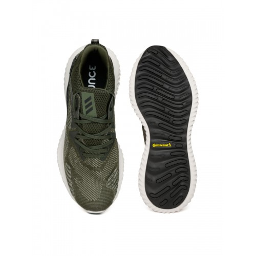 2258d611cc167 Buy Adidas Men Olive Green ALPHABOUNCE BEYOND Running Shoes online ...