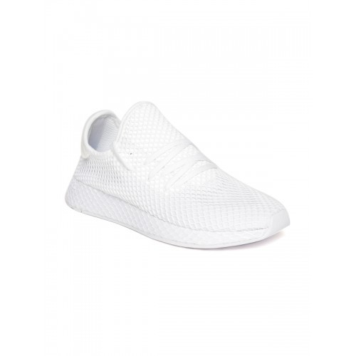 best loved 1aac1 f0f06 ... Adidas Originals Men Off-White Deerupt Runner Patterned Sneakers ...