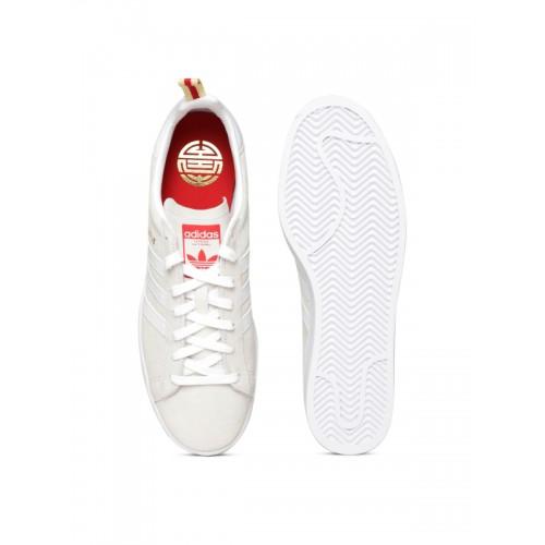 competitive price e4d58 29cbc ... Adidas Originals Men Off-White Campus CNY Leather Sneakers ...