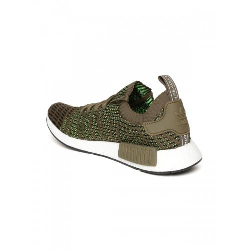 b5714dbef36a ... Adidas Originals Men Olive Green NMD R1 STLT PK Woven Design Sneakers  ...