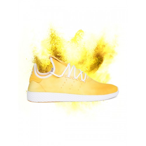 Buy Adidas Originals Men Yellow PW HU Holi Tennis Sneakers online ... 0dc2aae7c