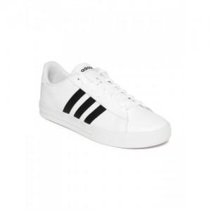 Adidas Men White DAILY 2.0 Leather Sneakers 894d1edba