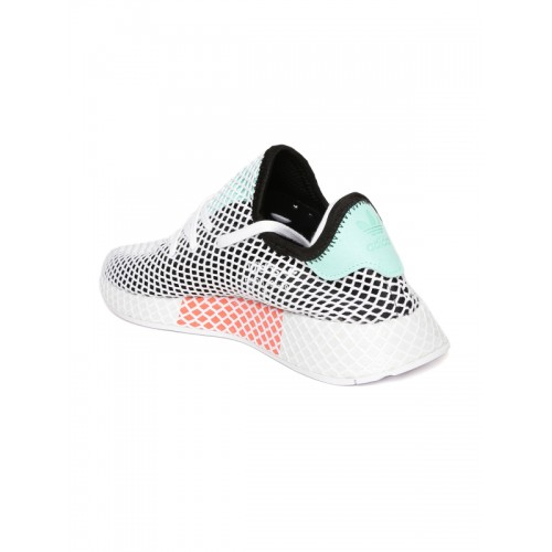 quality design 48131 4c3e0 ... Adidas Originals Men White  Black Deerupt Runner Patterned Sneakers ...
