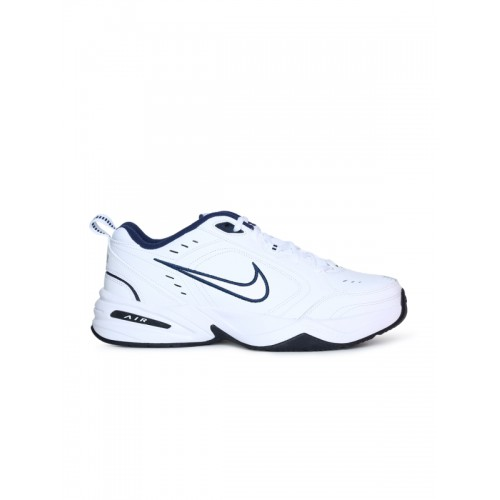 Nike Men's Metallic Silver/Mid Navy Air Monarch IV Running Shoes