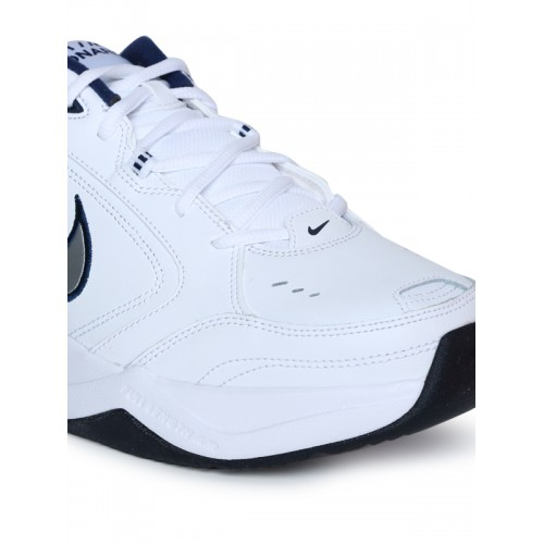 Nike Men's Metallic Silver/Mid Navy Air Monarch IV Running Shoes