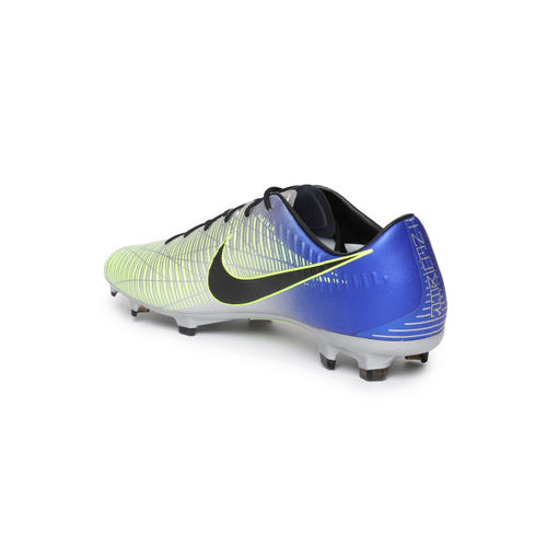 fa3149fcc ... Nike Men Silver-Toned   Blue Printed Neymar Mercurial Veloce III  Football Shoes ...