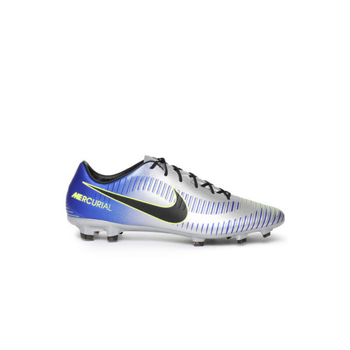 246f89776e6 ... Nike Men Silver-Toned   Blue Printed Neymar Mercurial Veloce III  Football Shoes ...