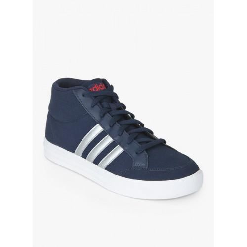 Buy Adidas Vs Set Mid Navy Blue Sneakers online | Looksgud.in