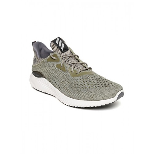 48d56b4aed880 Buy Adidas Olive Green Alphabounce EM Running Shoes online