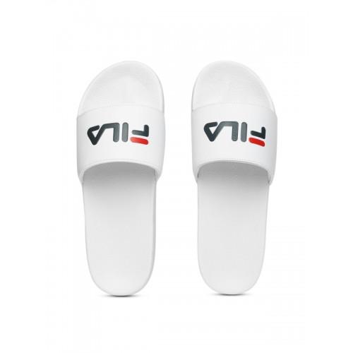 Buy FILA White Rubber Slip-On Slide