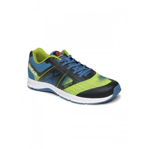 3d91de95763c Buy Reebok Men Blue   Neon Green QUICK WIN Running Shoes online ...