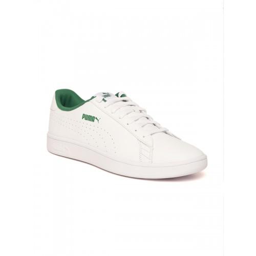 ea2e546e12db Buy Puma Puma Smash V2 L Perf White Sneakers online