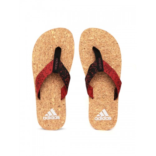 Adidas Men Red & Black Beach Cork 2017 Flip-Flops