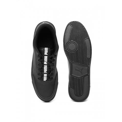 a057c7f9a7afe0 Buy Puma Court Breaker Bold Black Sneakers online | Looksgud.in