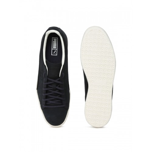 new concept 095ff 3121b Buy Puma Unisex Black Clyde Frosted Suede Sneakers online ...