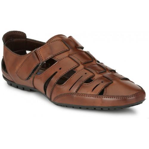 3ab8dd4d71a9ca El Paso Men s Brown Artificial Leather Velcro Closure Comfort Casual Sandals