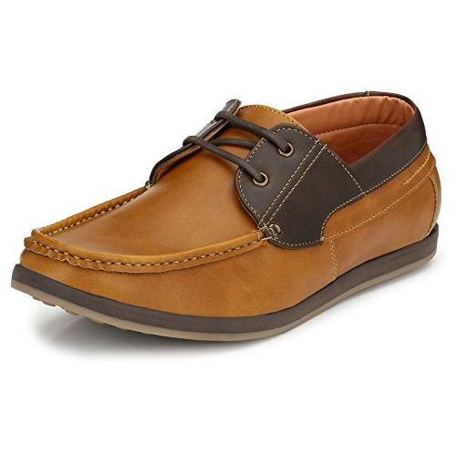 4d10228f2c141 ... tan)  Afrojack Men s Roadstar Synthetic Leather Casual Shoes (7
