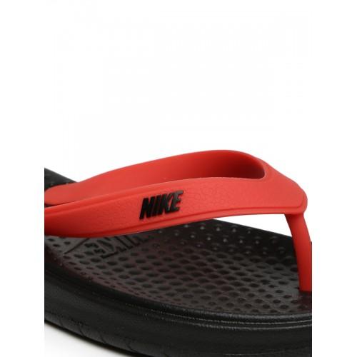 254771832f1cf9 Buy Nike Men Red   Black Solay Thong Flip-Flops online