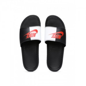 6848387d48a Nike Men Black   White Colourblocked BENASSI JDI Slip-On Flip Flops