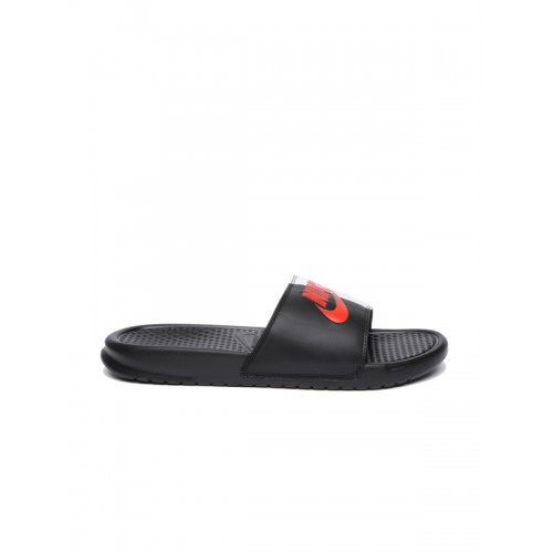 4a6e71b435fdc ... Nike Men Black   White Colourblocked BENASSI JDI Slip-On Flip Flops ...