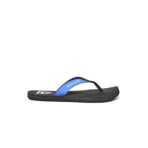 d34576137d770e Buy Reebok Black   Blue Synthetic Core Thong Flip-Flops online ...